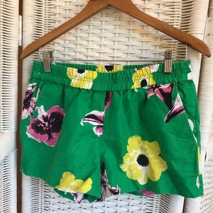 J Crew floral jacquard pull on boardwalk short